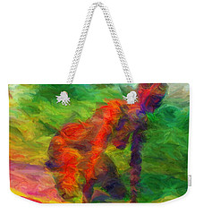 Angelie And The Kneeboard Weekender Tote Bag by Caito Junqueira