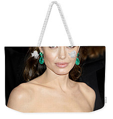 Angelina Jolie Weekender Tote Bag by Nina Prommer