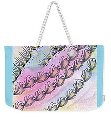 Weekender Tote Bag featuring the drawing Angels' Descent by Jan Steinle