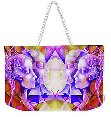 Weekender Tote Bag featuring the painting Angels by Hartmut Jager