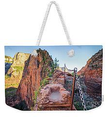 Angels Landing Hiking Trail Weekender Tote Bag by JR Photography