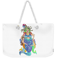 Weekender Tote Bag featuring the painting Angels Swim Among Us by Rosemary Aubut