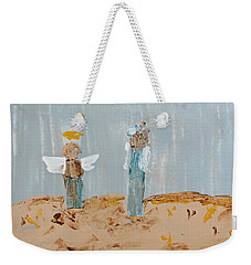 Angels Taking Care Of E Weekender Tote Bag