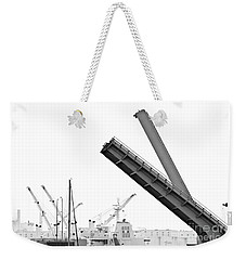Weekender Tote Bag featuring the photograph Angle Of Approach by Stephen Mitchell
