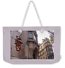 Angles And Details At Place Saint Andre Des Arts Poster Weekender Tote Bag by Felipe Adan Lerma