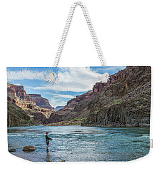 Weekender Tote Bag featuring the photograph Angling On The Colorado by Alan Toepfer