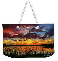 Angry Cloud Sunset Weekender Tote Bag