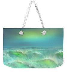 Weekender Tote Bag featuring the digital art Angry Irma by Darren Cannell