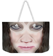 Weekender Tote Bag featuring the photograph Angry Monster #1 by Barbara Tristan