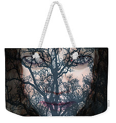 Weekender Tote Bag featuring the photograph Angry Monster #2 by Barbara Tristan