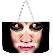 Weekender Tote Bag featuring the photograph Angry Monster #3 by Barbara Tristan