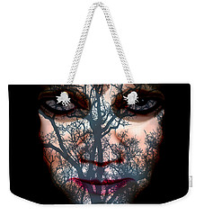 Weekender Tote Bag featuring the photograph Angry Monster #4 by Barbara Tristan