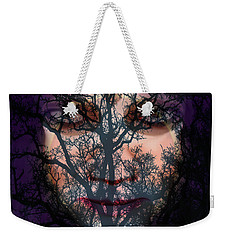 Weekender Tote Bag featuring the photograph Angry Monster #5 by Barbara Tristan