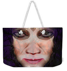 Weekender Tote Bag featuring the photograph Angry Monster #6 by Barbara Tristan