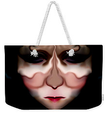 Weekender Tote Bag featuring the photograph Angry Monster Child #3 by Barbara Tristan