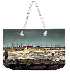 Angry Surf At Indian River Inlet Weekender Tote Bag