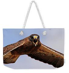 Angry Swainson's Hawk Weekender Tote Bag