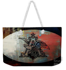 Anheuser Busch Eagle Painted Weekender Tote Bag by Kelly Awad