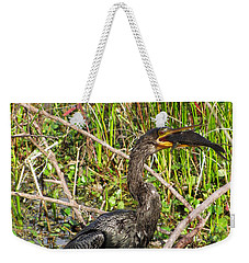 Anhinga And Fish  Weekender Tote Bag