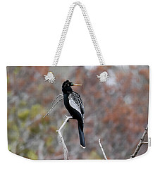 Weekender Tote Bag featuring the photograph Anhinga by Gary Wightman