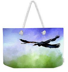 Anhinga In Flight Weekender Tote Bag by Cyndy Doty