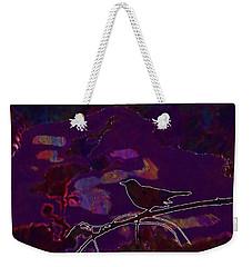 Weekender Tote Bag featuring the digital art Animal Bird Dark Nature Silhouette  by PixBreak Art