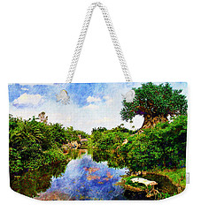 Weekender Tote Bag featuring the digital art Animal Kingdom Tranquility by Sandy MacGowan