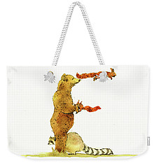 Animal Letter Weekender Tote Bag