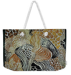 Animal Print Floor Cloth Weekender Tote Bag