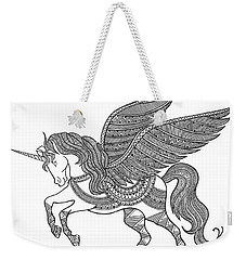 Animal Unicorn Weekender Tote Bag by Neeti Goswami