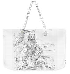 Animal Wisdom Weekender Tote Bag