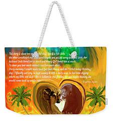 Animals-christmas Love Story Weekender Tote Bag
