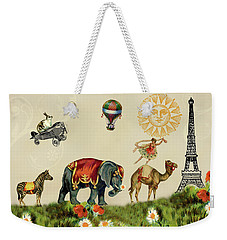 Animals On Parade In Paris Weekender Tote Bag