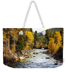 Weekender Tote Bag featuring the photograph Animas River by Kurt Van Wagner
