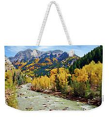 Weekender Tote Bag featuring the photograph Animas River San Juan Mtns, Co, Panorama by Kurt Van Wagner