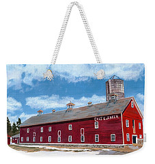 Weekender Tote Bag featuring the painting Anken's Barn by Lynne Reichhart
