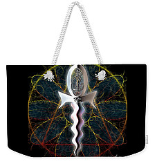 Weekender Tote Bag featuring the digital art Ankh Dagger - Life And Death by Iowan Stone-Flowers