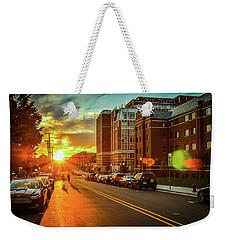 Ann Arbor Sunset Weekender Tote Bag by Eric Sutherland