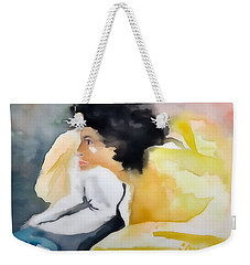 Ann Watching Tv - Digitalart Weekender Tote Bag