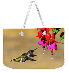 Anna And Hardy Fuchsia Flower Weekender Tote Bag