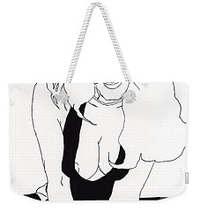 Anna-black Stockings Weekender Tote Bag