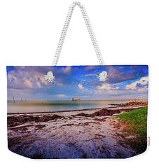 Weekender Tote Bag featuring the photograph Anna Maria City Pier by Doug Camara