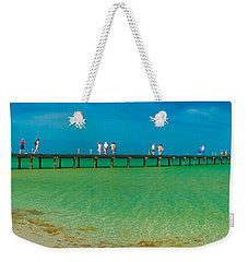 Anna Maria Island Historic City Pier Panorama Weekender Tote Bag