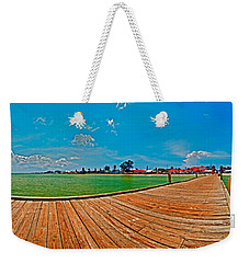 Anna Maria Island Seen From The Historic City Pier Panorama Weekender Tote Bag