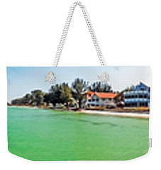 Anna Maria Island With Rod And Reel Pier Weekender Tote Bag