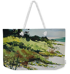 Weekender Tote Bag featuring the painting Anna Marie Island by Elizabeth Carr