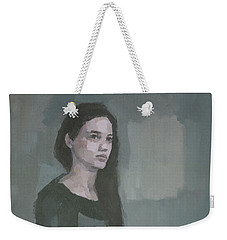 Weekender Tote Bag featuring the painting Anna  by Steve Mitchell