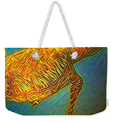 Weekender Tote Bag featuring the digital art Annabelle The Turtle by Erika Swartzkopf