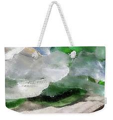 Weekender Tote Bag featuring the digital art Annabelle's Beach Glass by Aliceann Carlton