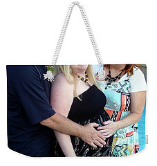 Annah With Parents Weekender Tote Bag